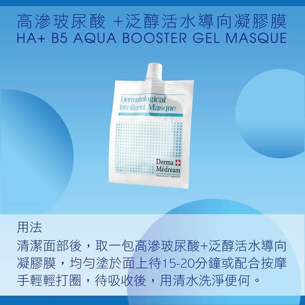 高滲玻尿酸 +泛醇活水導向凝膠膜